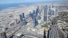 View from the tallest building in the world, the Burj Kahlifa.